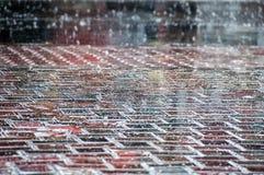 Deszcz krople na ulicie Obraz Royalty Free