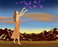 Deszcz miłość szczęśliwy dzień valentine s ilustracja wektor