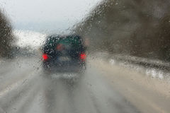 Deszcz na autostradzie Obraz Royalty Free