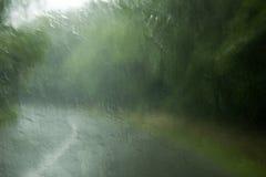 Deszcz na okno Fotografia Stock
