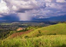 Deszcz na stronie przeciwnej Zdjęcia Stock