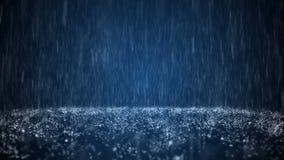 Deszcz na tajmeniczo błękitnym tle zbiory