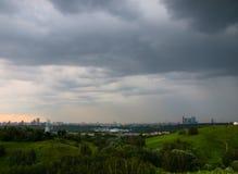 Deszcz nad Moskwa Zdjęcia Royalty Free