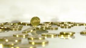Deszcz od złocistych monet zbiory wideo