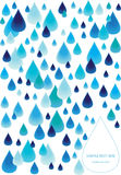 Deszcz opuszcza tło Obrazy Royalty Free
