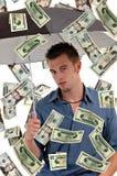deszcz pieniędzy Fotografia Stock