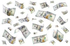 deszcz pieniędzy zdjęcia royalty free
