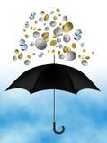 deszcz pieniędzy Zdjęcie Royalty Free