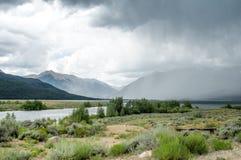 Deszcz Przez jezioro Zdjęcie Stock
