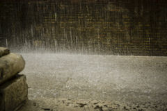 Deszcz spada na ziemi Obrazy Stock