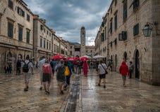 Deszcz w Dubrovnik Chorwacja zdjęcia stock