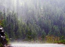 Deszcz w halnej jamie Zdjęcie Royalty Free