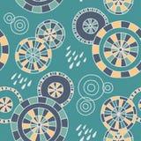 Deszcz w Kyoto - bezszwowy wzór Fotografia Royalty Free