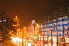Deszcz w mieście Fotografia Royalty Free