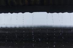 Deszcz w porze deszczowa w miasteczku Obraz Stock