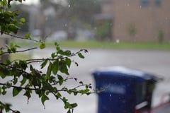 Deszcz w przedmieściach Obraz Royalty Free