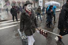 Deszcz z śniegiem w St Petersburg Obraz Royalty Free