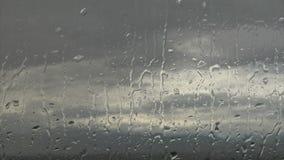 Deszcz zakrywający okno zbiory