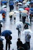Deszczowi dni przy dworcem fotografia royalty free