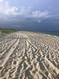 Deszczowy dzień przy plażą fotografia royalty free
