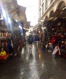 Deszczowy dzień przy rynkiem Obrazy Stock
