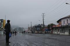 Deszczowy dzień w Osh Zdjęcia Royalty Free
