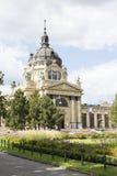 Det äldsta Szechenyi medicinska badet är det största medicinska badet i Europa Arkivfoto
