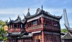 Det äldsta tehuset i Shanghai Royaltyfria Bilder