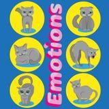 Det ändrande lynnet av katter stock illustrationer