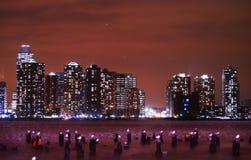 Det är aldrig lätt att lämna New York Arkivbild