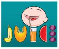 Det är användbart att dricka ny fruktsaft för din hälsa Arkivbild