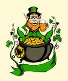 Det är bilden av St Patrick Arkivbild