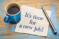 Det är dags för ett nytt jobb! arkivfoto
