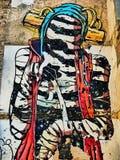 Det är en annan Deih levande död - Street Art av Valencia arkivbild