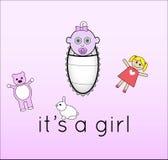 Det är en flicka Royaltyfria Bilder