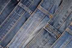 Det är en hög av jeans Royaltyfri Bild
