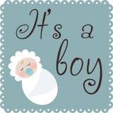 Det är en pojke stock illustrationer