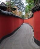Röd vägg i chengdu Royaltyfri Fotografi