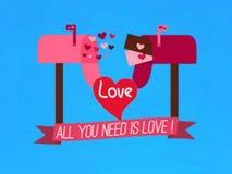 Det är gåvakortet av omkring förälskelse, symbolet, vektor stock illustrationer
