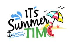 Det är illustrationen för sommartid Arkivbild