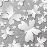 Det är många fjärilar från papper Arkivbild
