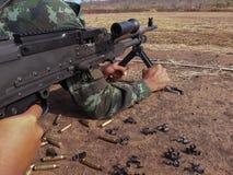Det är maskingeväret Royaltyfri Foto