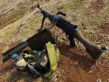 Det är maskingeväret Royaltyfri Bild