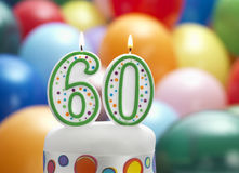 Det är min 60th födelsedag Arkivbild