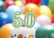 Det är min 50th födelsedag Arkivfoton
