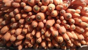 Det är mycket röda morötter Arkivfoto