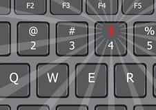 Det är pengarbärbar datortangentbordet USA Royaltyfri Foto