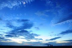 Det är soluppgång på Ilan, Taiwan Och soluppgång är mycket härlig arkivfoton