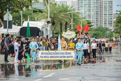 Det östliga kapitlet för hotellanslutning ståtar marsch i allmäntjänstgörande läkare arkivfoton