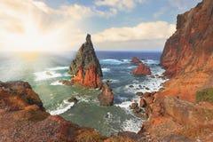 Det östligt av Madeira Arkivbilder